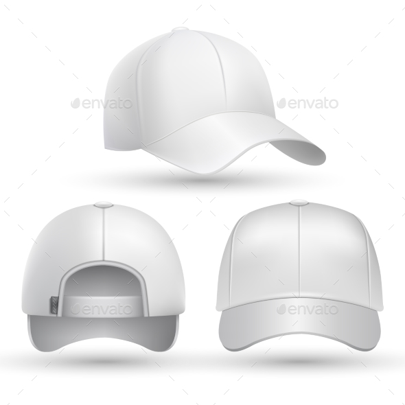 Realistic Baseball Cap Set