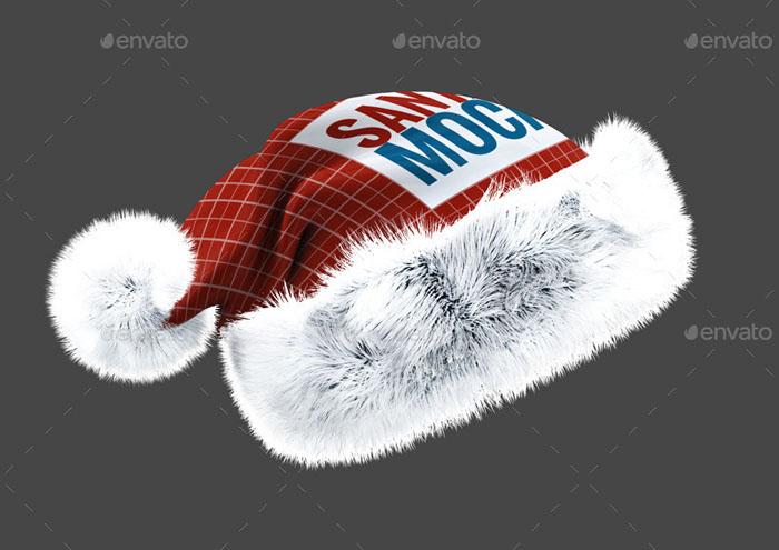 Premium Santa Hat Mockup