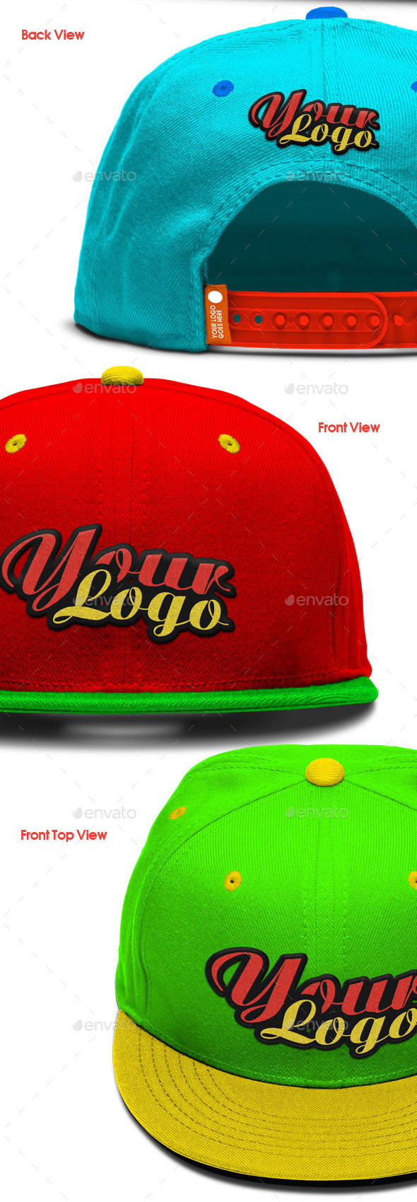 Baseball Cap- Embroidered Logo Mockup