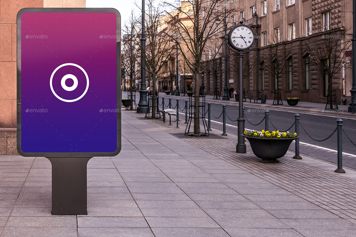 HQ Realistic Outdoor Advertising Mockup