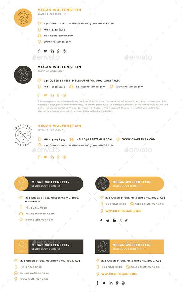E-Signatures – Modern Email Signature Templates
