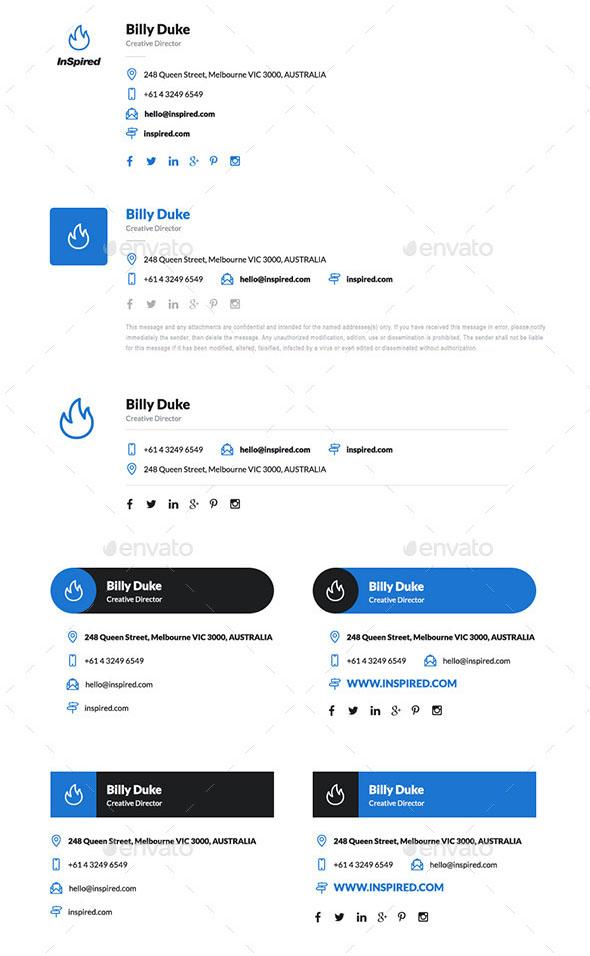 Inspired 12 HTML Professional E-Signatures