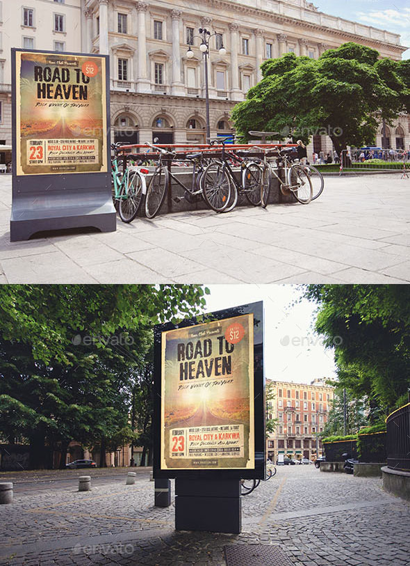 5 PSD Advertising Mockups for Outdoor