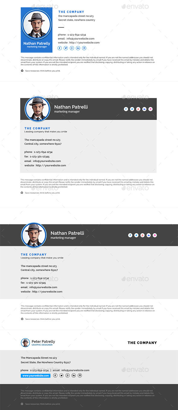 51 Awesome Email Signature Templates 2017 Html Psd