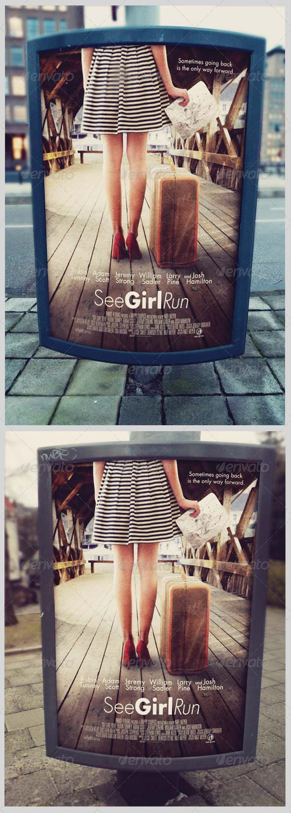 Outdoor Poster Sign Mockup Templates