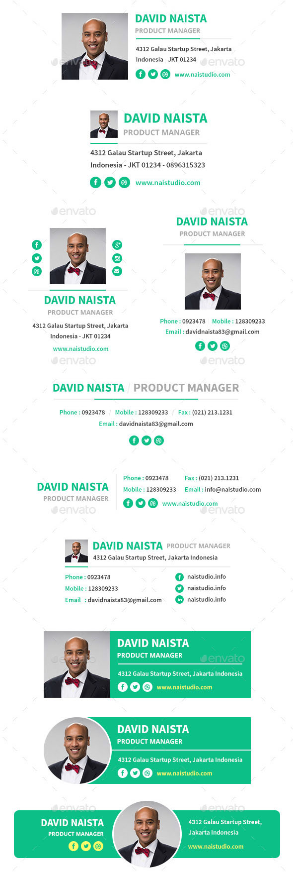 10×07 Email Signature Template