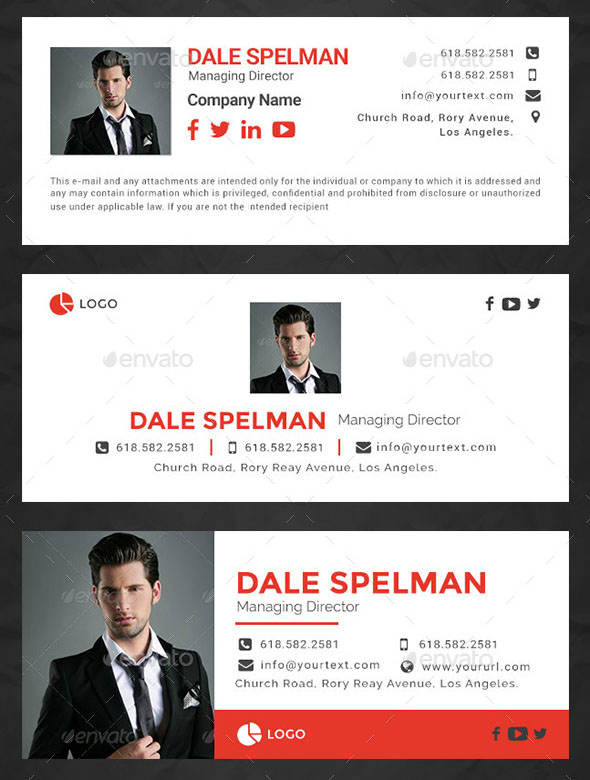 15 Email Signature Templates – HTML Files Included