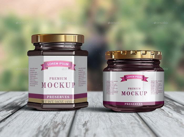 10 Jelly /Jam / Honey Jars Mockup