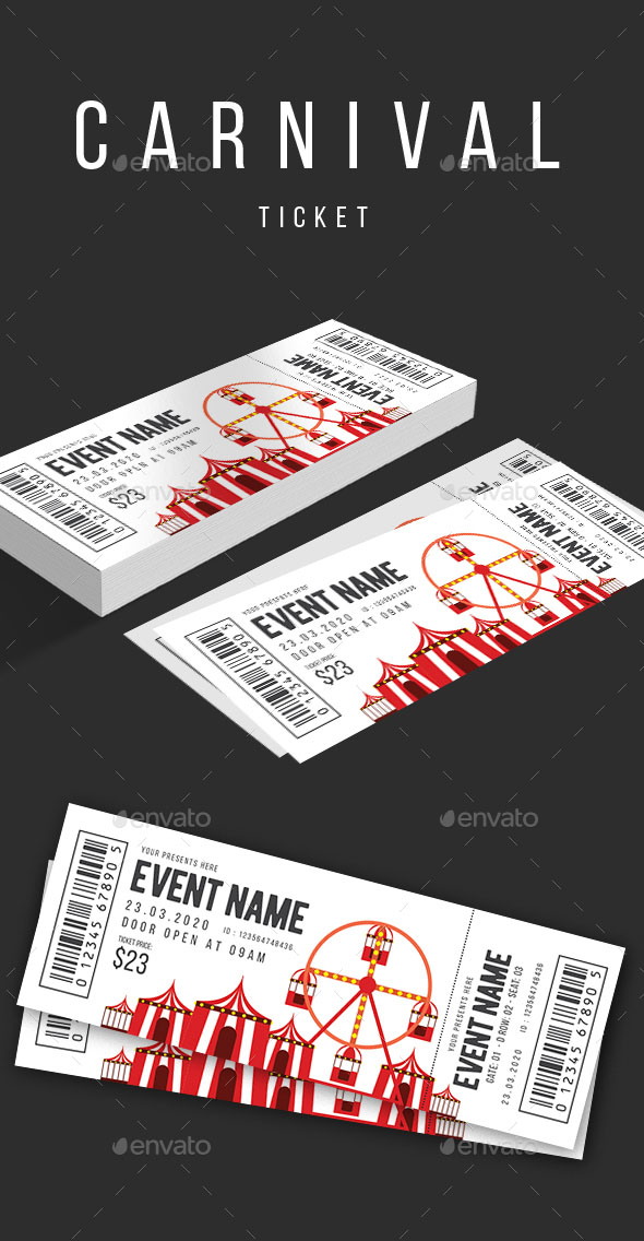 Carnival Clean Ticket Template