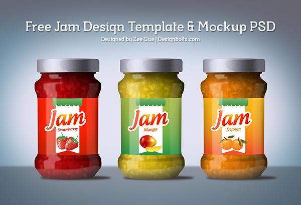 Free Jam Label Design Template & Mockup PSD