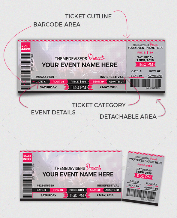 Multipurpose Ticket Templates  Psd Vector Word