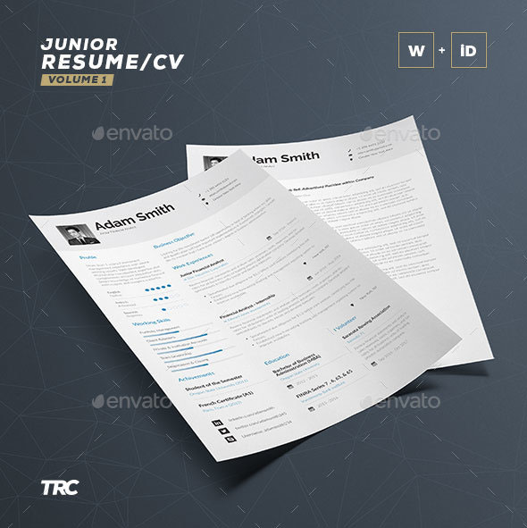 CV / Resume Template – Word and InDesign