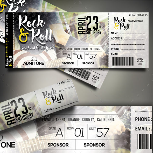 66 multipurpose ticket templates 2018 psd vector word