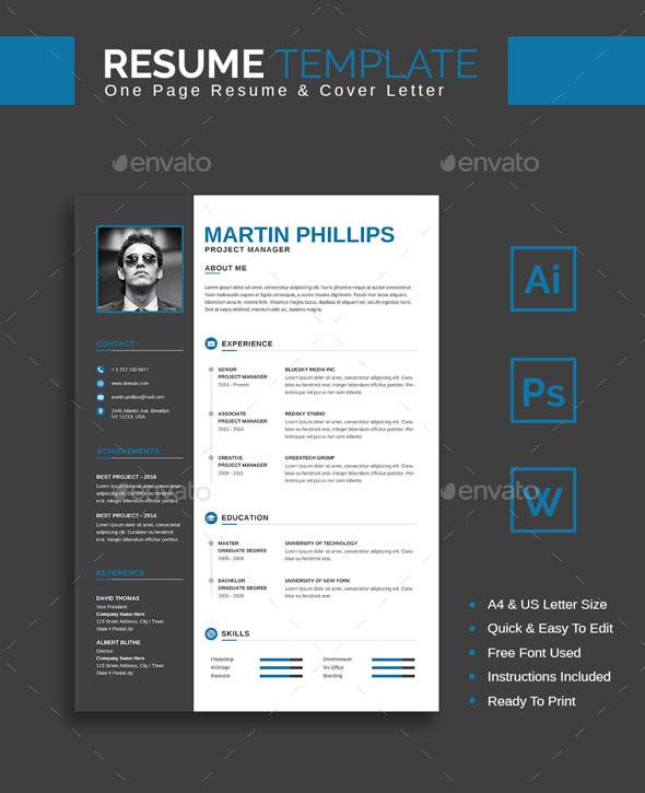 Premium Resume Template – Martin