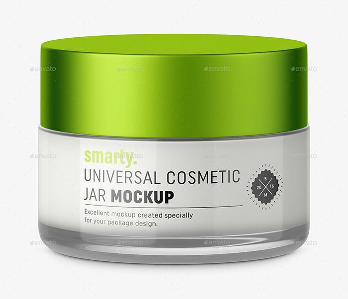 Glass Cosmetic Jar Mockup