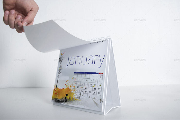 Calendar Mock-Up Square