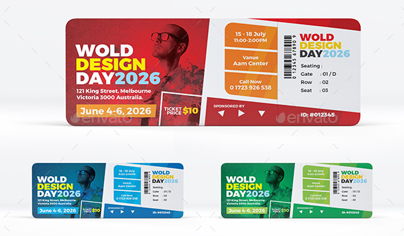Colorful Event / Conference Ticket Template