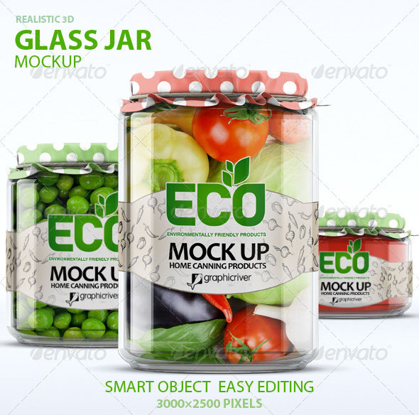 Eye –Catching Glass Jar Mockup