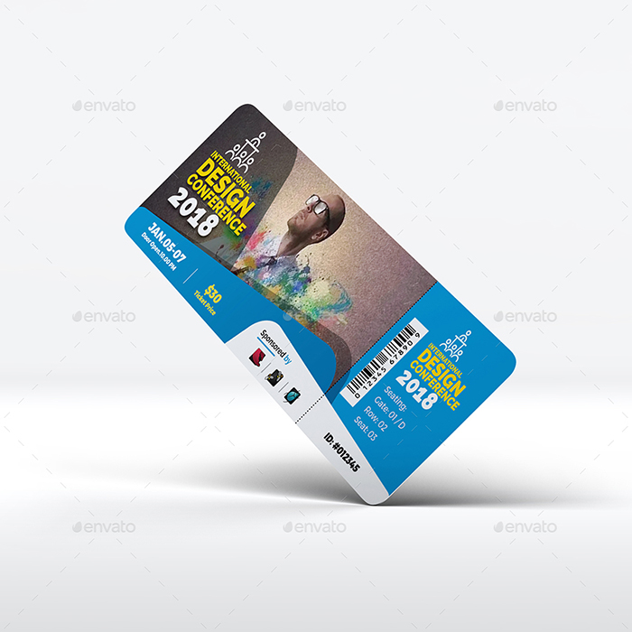 Fully Editable Event or Conference Ticket Template