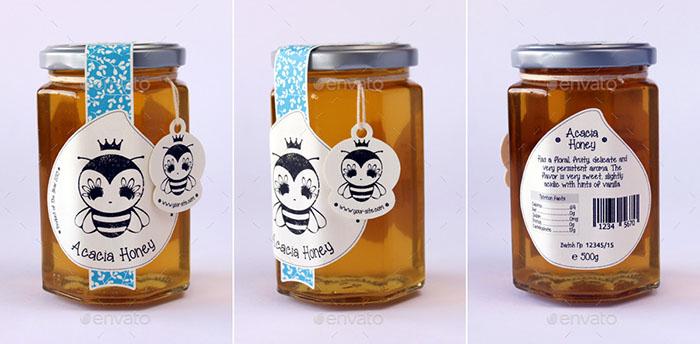 Premium - Honey Jar Labels Design