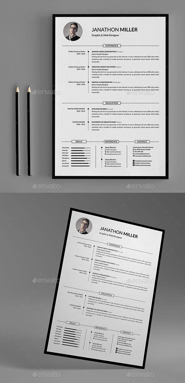 Premium - Fully Organized Resume Template