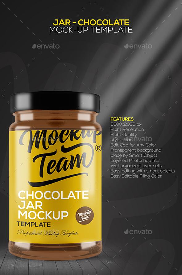 Jar – Chocolate Mockup Template
