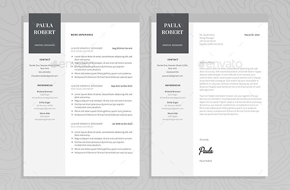 60 Awesome Resume Cv Templates 2018 Word Indesign Psd - Impressive-resume-templates