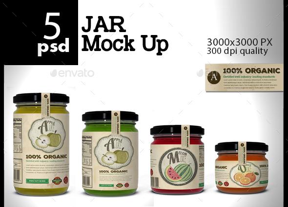 5 PSD Jar Mock Up