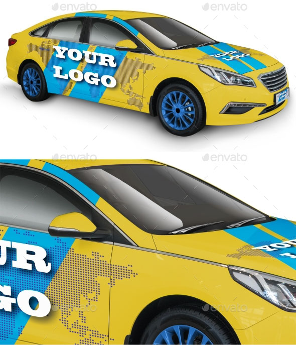 Vehicle Wrap Templates Photoshop 45 Premium And Free Psd Realistic High Quality Car