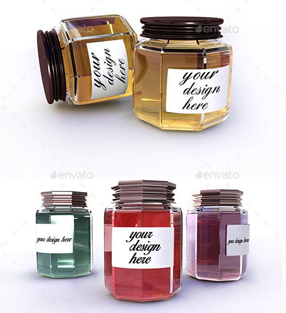Jars Mockup / Honey Mockup