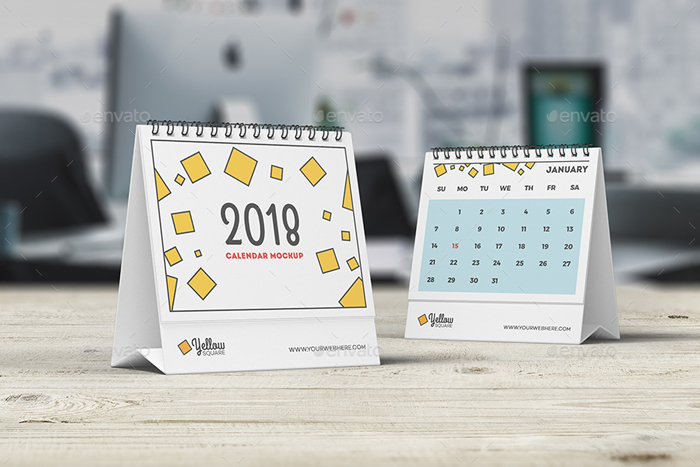 Table Calendar Mockup : Best calendar templates psd vector indesign
