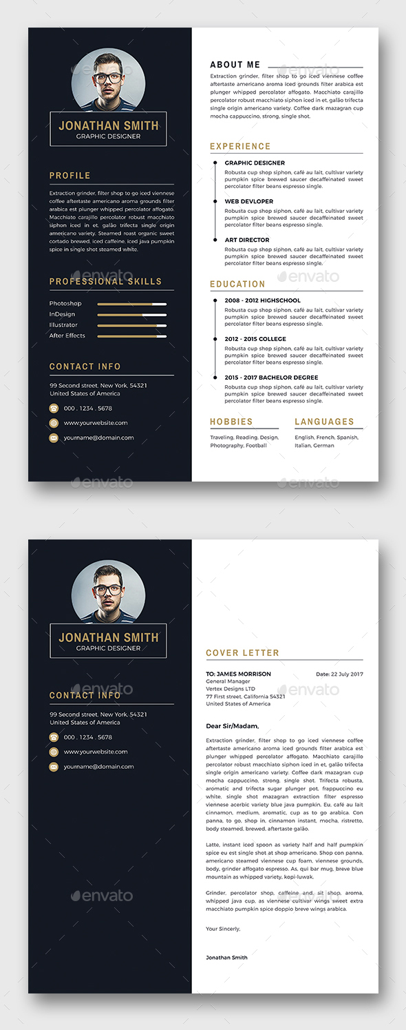 2 Color Variant Resume Template