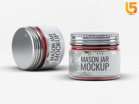 6 Photorealistic Mason Jar Mock-Up V.3