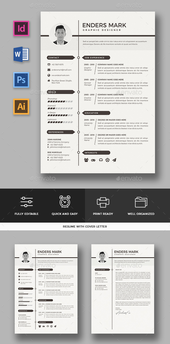 quick easy to use resume template premium easy to use resume templates easy to use - Easy To Use Resume Templates