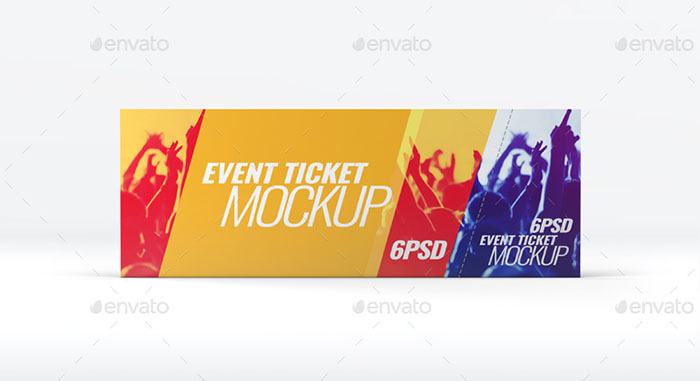 Realistic Event Tickets Mockup