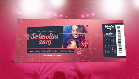 Eye-Catching Event Tickets Template 30