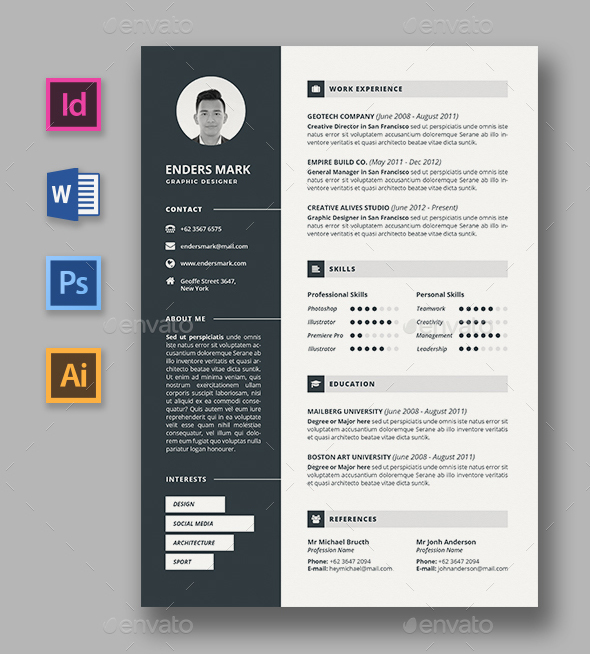 A4 Size Resume Template