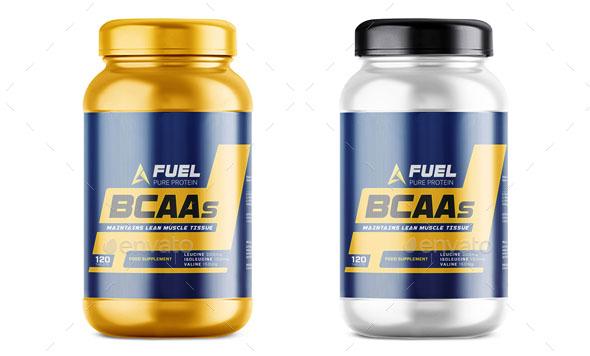 Protein Supplement Bottle Mockup – Premium