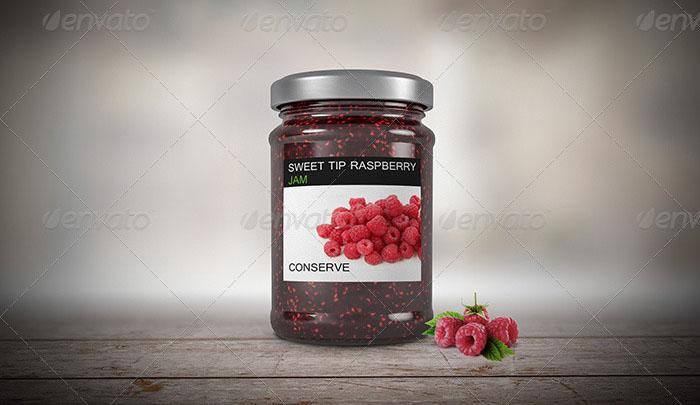 Premium – 6 Jam Jar Flavors Mockup