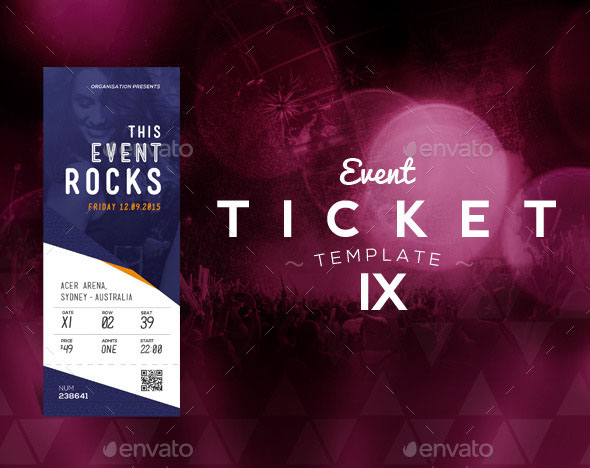 Beautiful Events Ticket Template 9