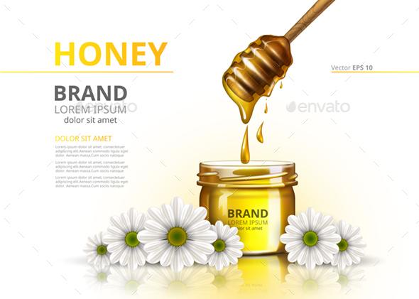 Premium – Realistic Honey Jar Mockup