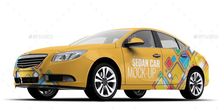 56 Awesome Car Branding Mockups PSD