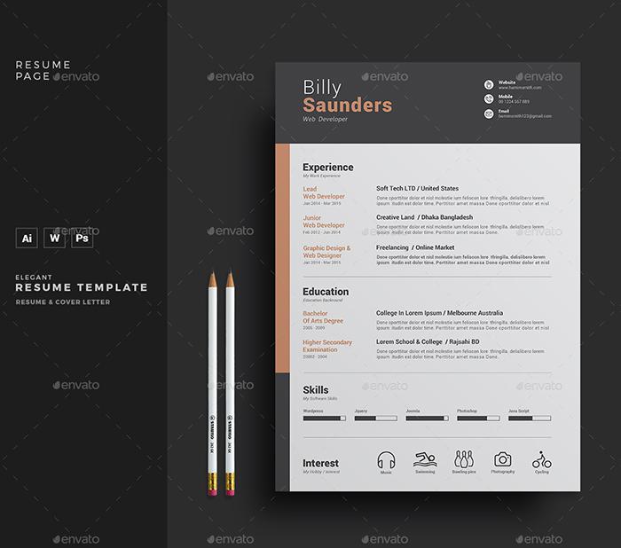 Clean & Creative Resume / CV