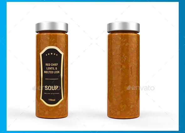 Soup Jar Mockup – Premium