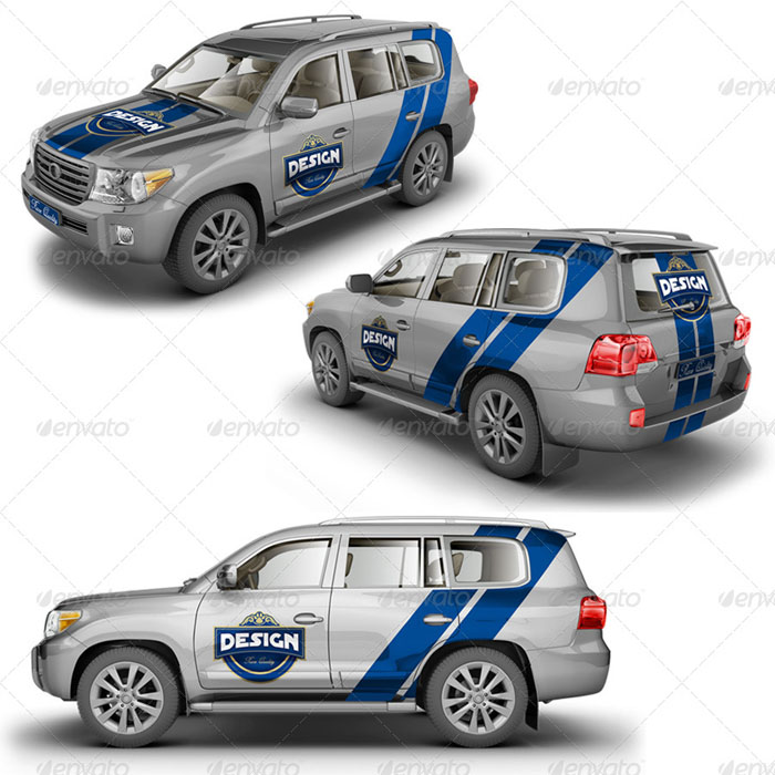 Toyota Suv Crossover: 56+ Awesome Car Branding Mockups (PSD)