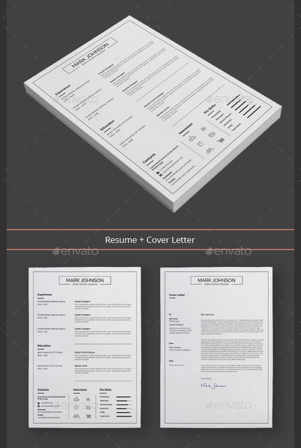 60  awesome resume cv templates 2018  word  indesign  psd