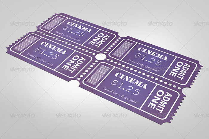 Print Ready Small Event Ticket Mockup