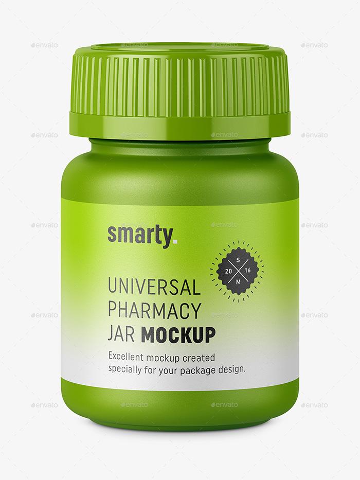 Tablets Jar Mockup – Premium