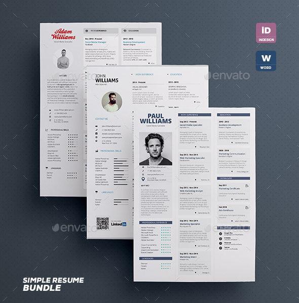 Simple Resume Bundle