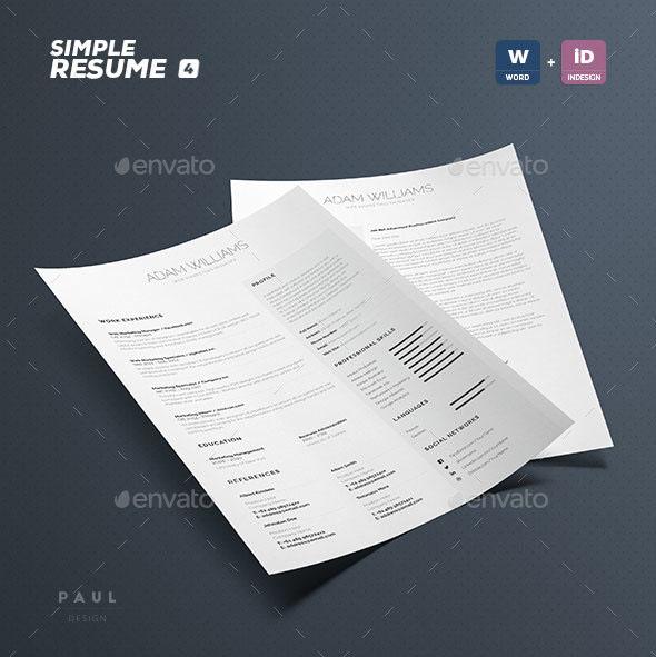 Simple Resume / CV Volume 4